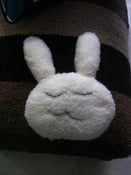 Image of Doudou Coussin Lapin Fausse fourrure imitation Mouton LISETTE