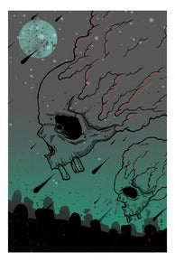 "Image of ""flying skulls"" print"