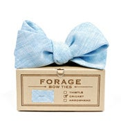 Image of sky linen {bow tie}