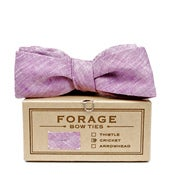 Image of plum linen {bow tie}