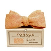 Image of tangerine linen {bow tie} 