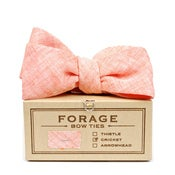 Image of coral linen {bow tie}