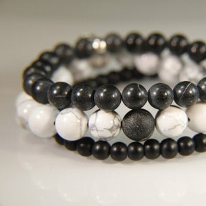 Image of N E W   S T A C K S!  Set of 3 bracelets to stack with your other JK pieces - Onyx