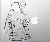 Image of Walrus Eating Pancakes Vinyl Decal
