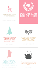 Image of Ladies of Literature Quote Collection