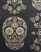 Image of SAMPLES of Day of the Dead Sugar Skull Wallpaper