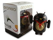 Image of Black Lucky Cat Android Closed Eye - Shane Jessup