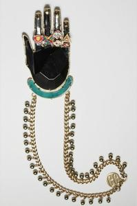 Image of Black Magoos hand necklace by Gonzalo Cutrina