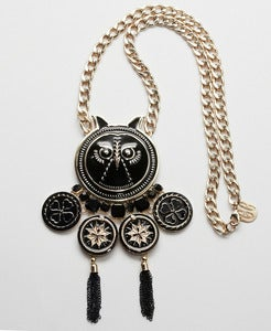 Image of Black Owl necklace by Gonzalo Cutrina