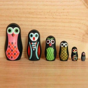 Image of Owl Matryoshka Dolls by Ingela P. Arrhenius