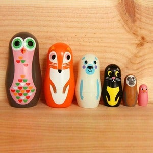 Image of Animal Matryoshka Dolls by Ingela P. Arrhenius