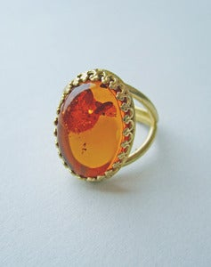 Image of Honey Honey Amber Ring