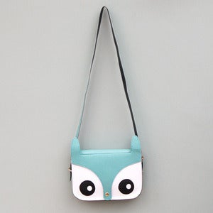 Image of Owl Saddle Bag in Spearmint Blue 