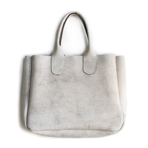 Gretel Tote - Crackle White