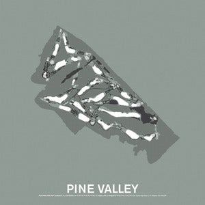Image of Pine Valley Golf Club Screenprint Poster