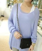 Image of Lilac Oversize Knit Top
