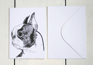 Image of Boston Terrier Greeting Card