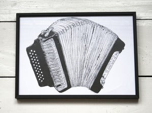 Image of Accordion A4 Print