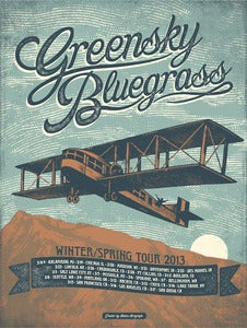 Image of Greensky Bluegrass - Late Winter tour poster