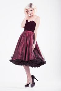 Image of Ruby Velvet, Satin & Tulle Party Dress