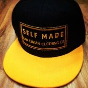 Image of Raw Caviar Black and Yellow Snapback Self Made