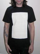 Minimal White Space <br>Men's Black T-Shirt