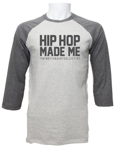 Image of Hip Hop Made Me Raglan concrete/artic grey
