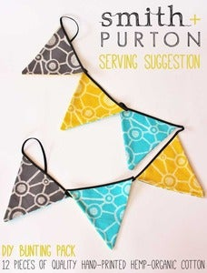 Image of DIY bunting pack screen printed triangles