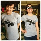 Image of Grey Black Bird Shirt