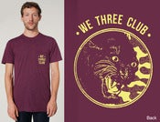 Image of Panther Club - Cranberry Pocket tee