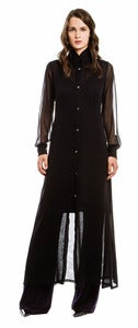 Image of Kati Silk Chiffon Duster Dress