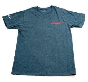 Image of Horizon V Neck in Navy Heather
