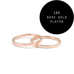 Image of Sandie. 2 Rose Gold Above Knuckle Rings