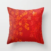 Image of Gold Cherry Blossom Designer Fabric Pillow