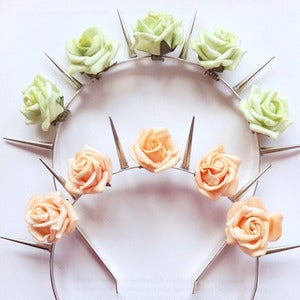 Image of Floral Spike Headband (7 Colours)