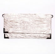 Image of Metallic Textured Fold Clutch