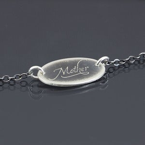 Image of Small Oval Mother Necklace