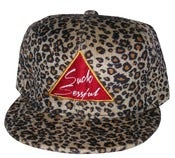 "Image of Joe Rocken's ""The All Over"" Leopard Print Strap Back Hat Exclusive Design"