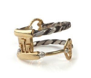 Image of Interlocking Key Friendship Ring Set       (Key Teeth)
