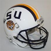 Image of White LSU Replica Football Helmet