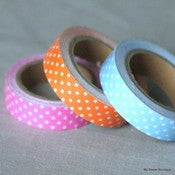 Image of Fabric tape à pois - 3 coloris