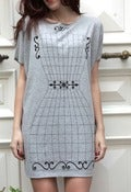 Image of Vintage T-dress - grey