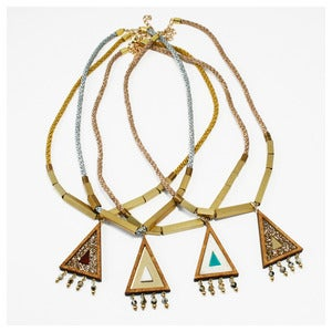 Image of Beaded Triangle Necklace