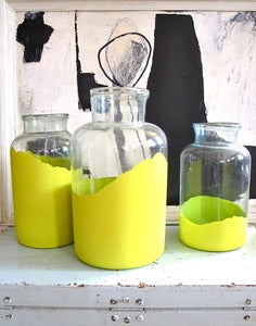 Image of Giant painted antique pickling jars