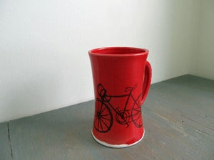 Image of Red Bicycle Mug