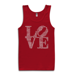 Image of Classic LOVE Tank-Top (Red/White)