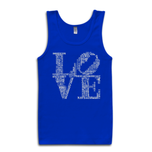 Image of Classic LOVE Tank-Top (Royal/White)