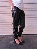 Image of Irina Leatherette Track Pants