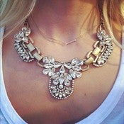 Image of Camille Rhinestone Statement Necklace