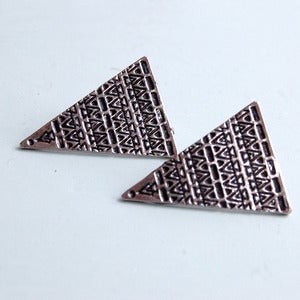Image of Aztec Triangle Earrings